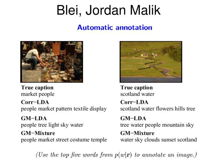 Blei, Jordan Malik