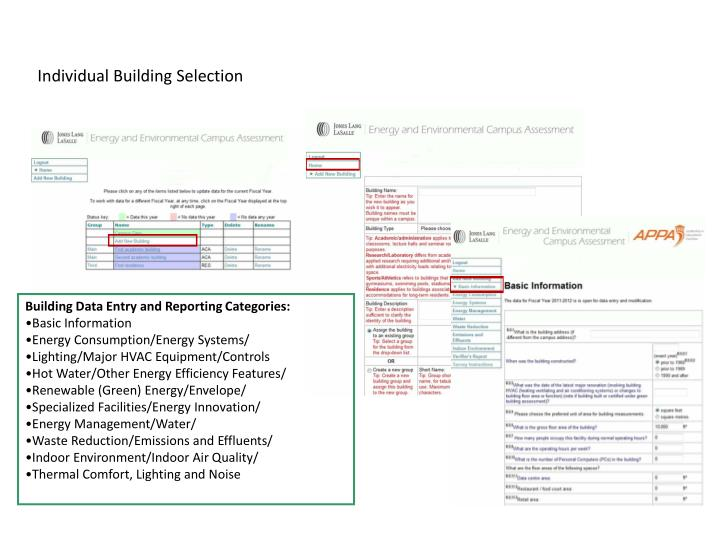 Individual Building Selection