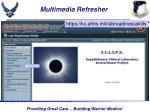 multimedia refresher