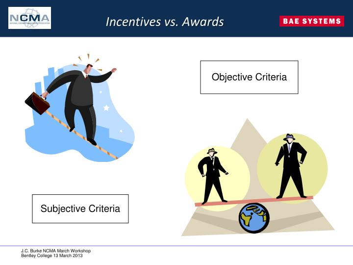 Incentives vs. Awards