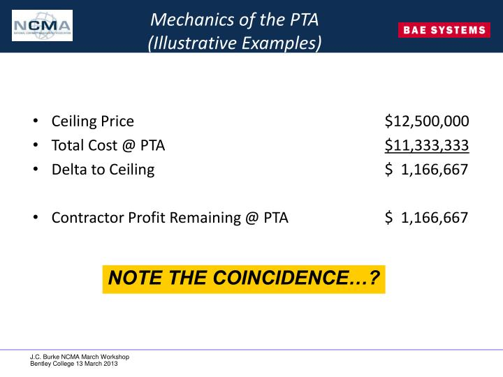 Mechanics of the PTA