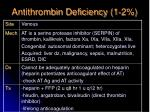 antithrombin deficiency 1 2