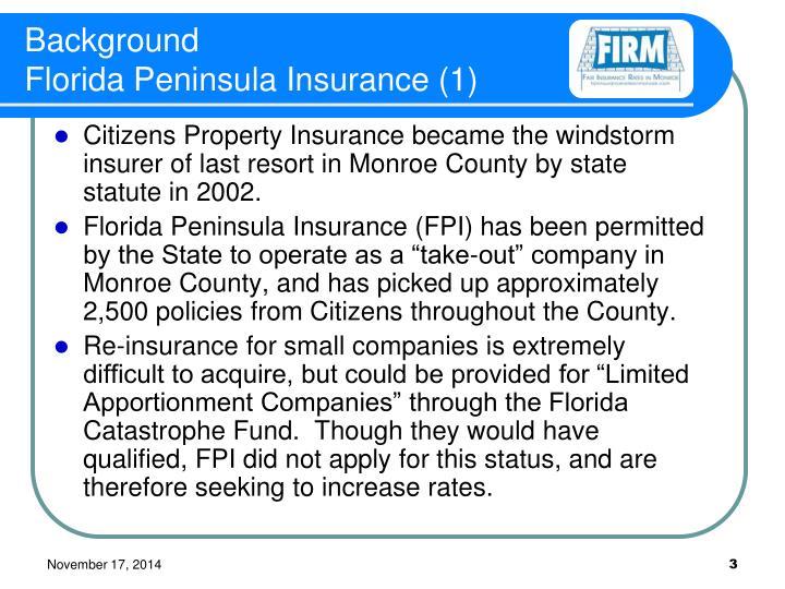 Background florida peninsula insurance 1