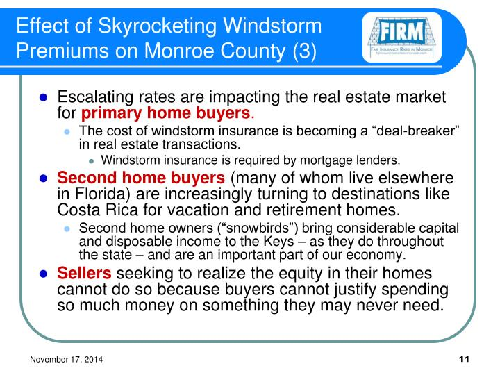 Effect of Skyrocketing Windstorm Premiums on Monroe County (3)