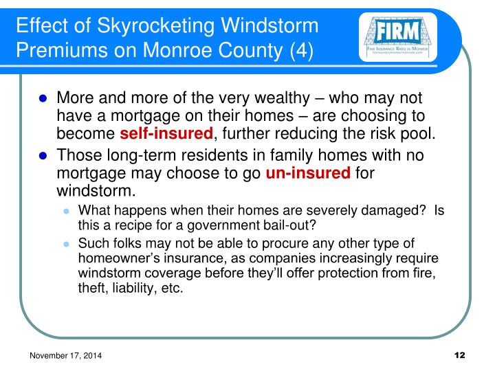Effect of Skyrocketing Windstorm Premiums on Monroe County (4)