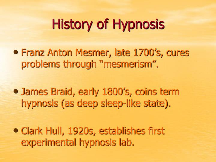History of Hypnosis