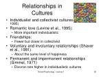 relationships in cultures