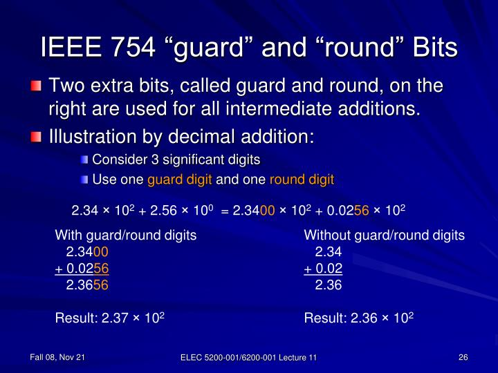 """IEEE 754 """"guard"""" and """"round"""" Bits"""