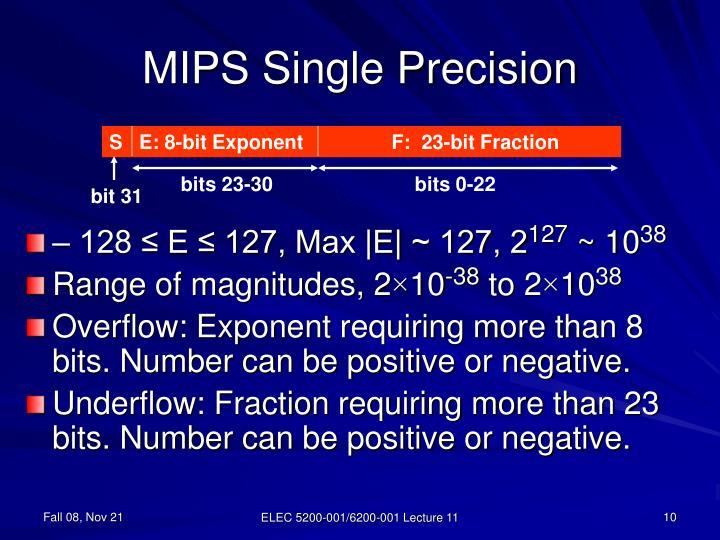 MIPS Single Precision