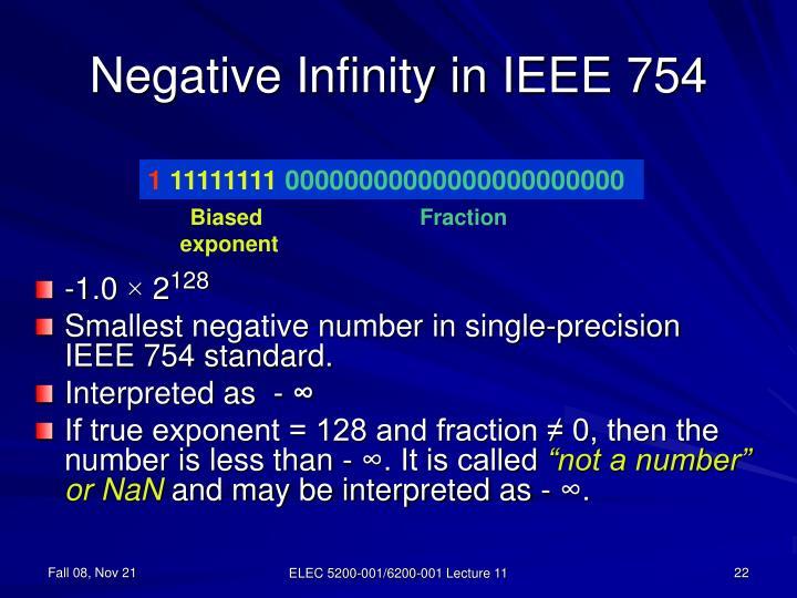 Negative Infinity in IEEE 754
