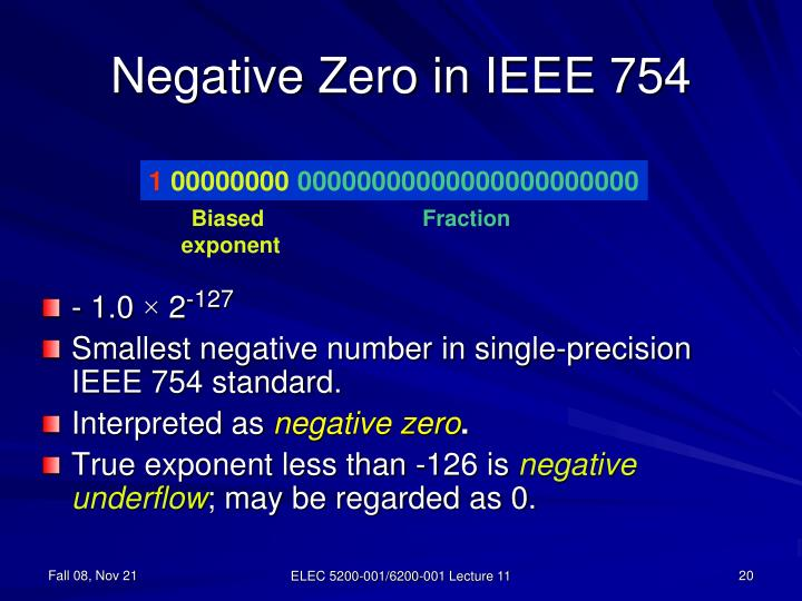 Negative Zero in IEEE 754