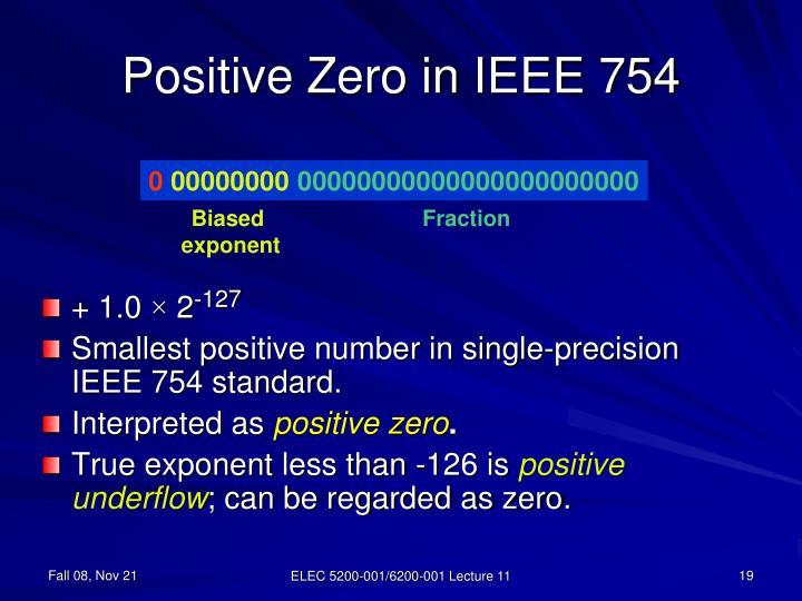 Positive Zero in IEEE 754