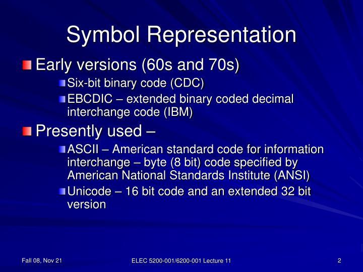 Symbol representation