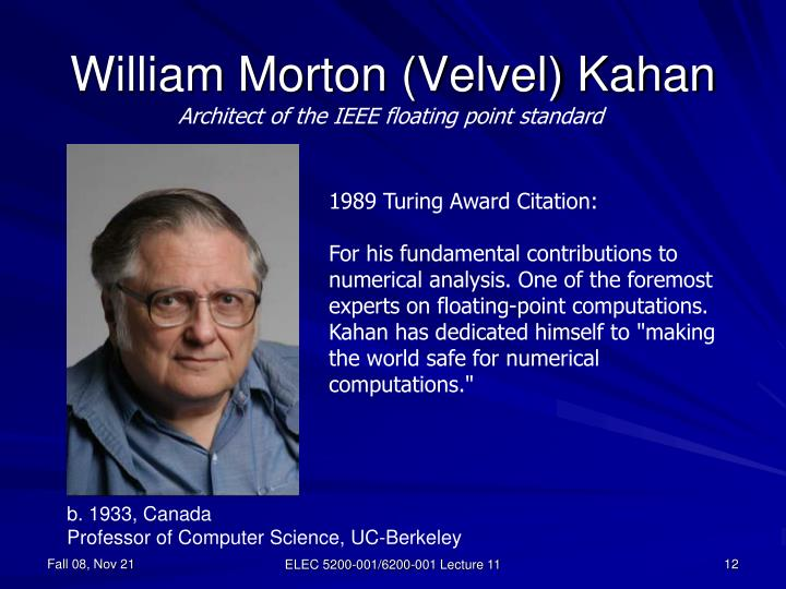 William Morton (Velvel) Kahan