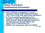 basic protection institutional assurance