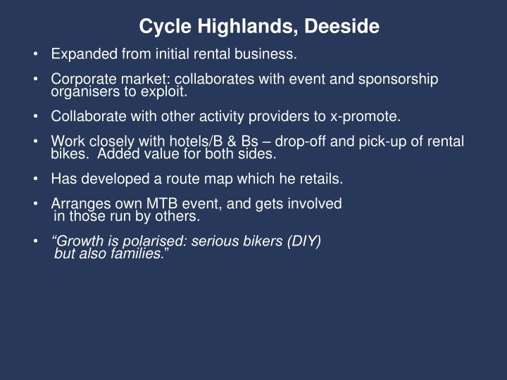 Cycle Highlands, Deeside