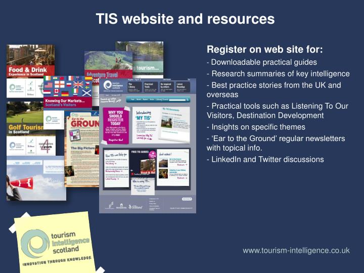 TIS website and resources