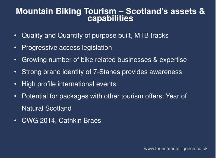 Mountain Biking Tourism – Scotland's assets & capabilities