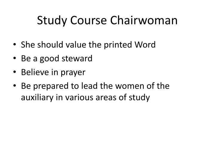Study Course Chairwoman