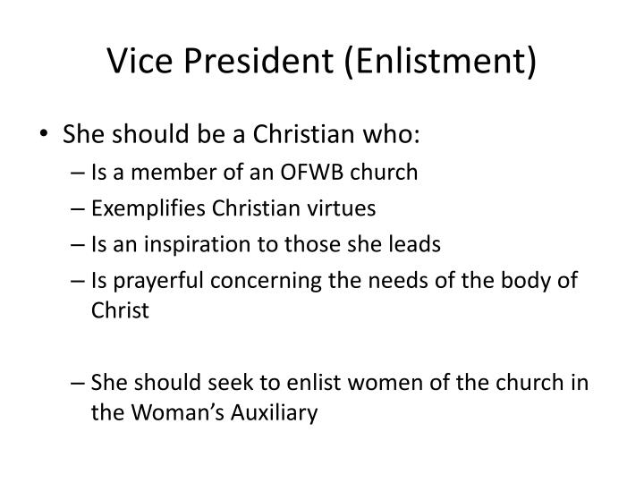 Vice President (Enlistment)