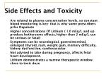 side effects and toxicity