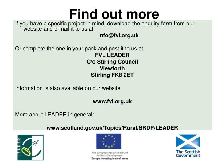 If you have a specific project in mind, download the enquiry form from our website and e-mail it to us at