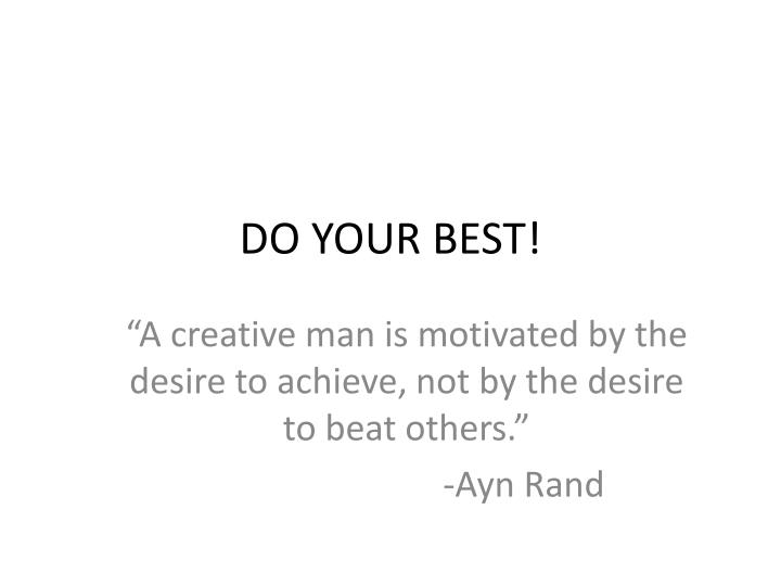 do your best n.