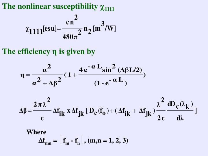 The nonlinear susceptibility