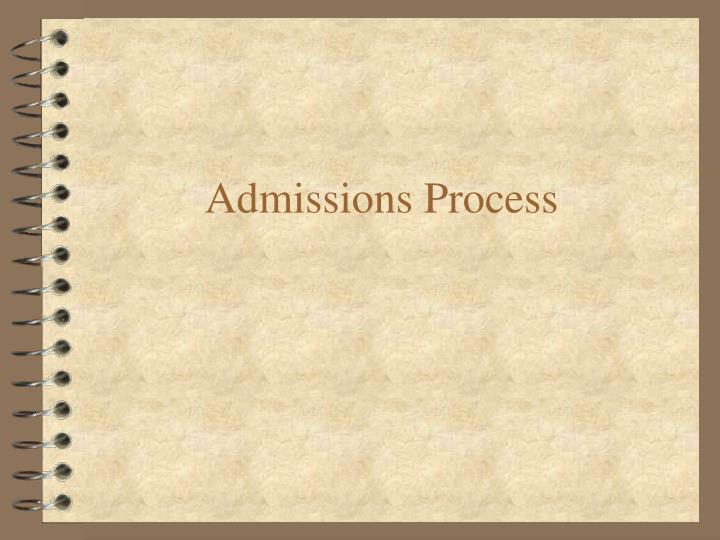 Admissions Process
