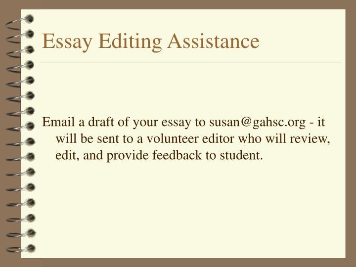 Essay Editing Assistance