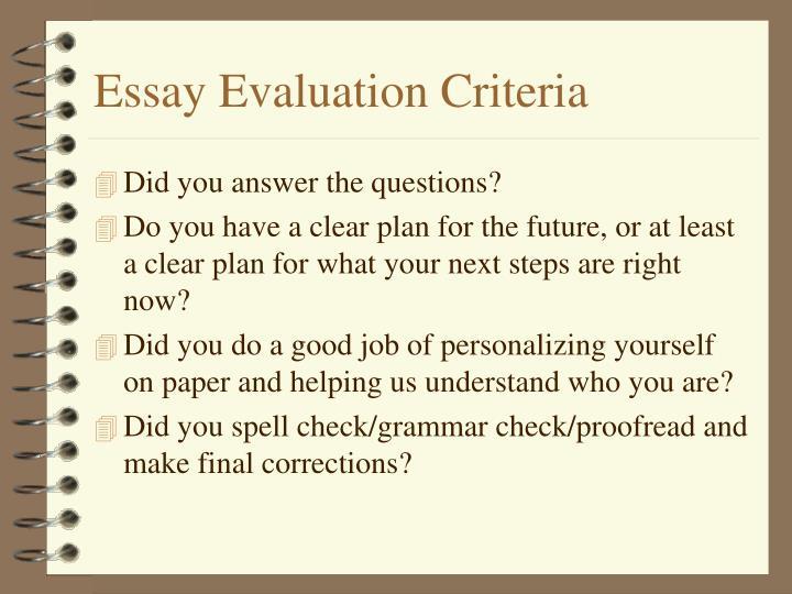 Essay Evaluation Criteria