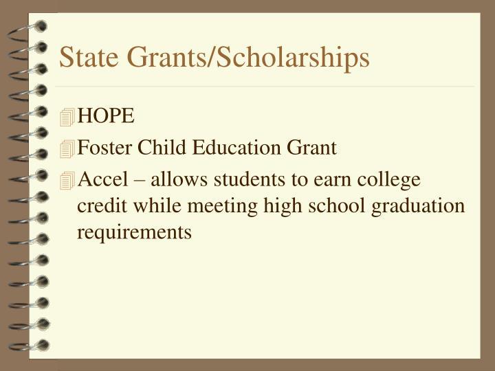 State Grants/Scholarships