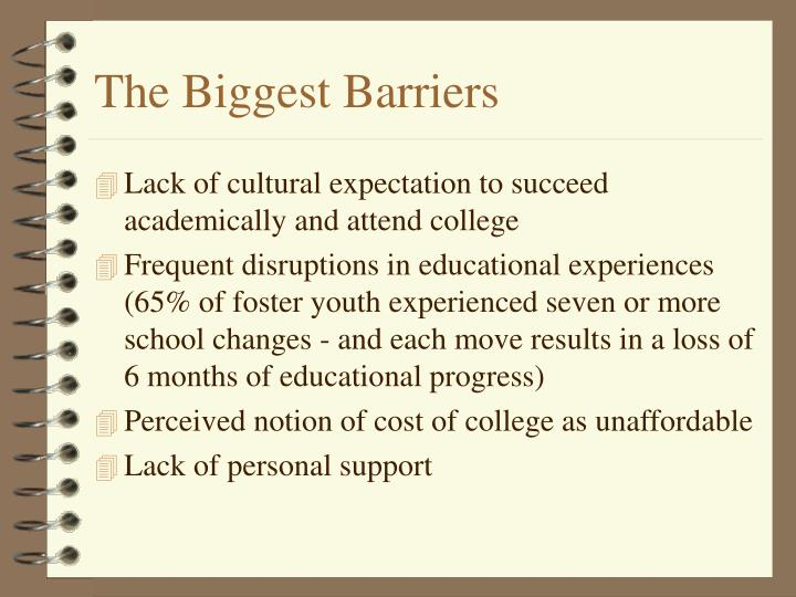 The Biggest Barriers