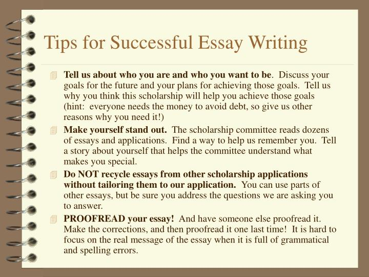Tips for Successful Essay Writing