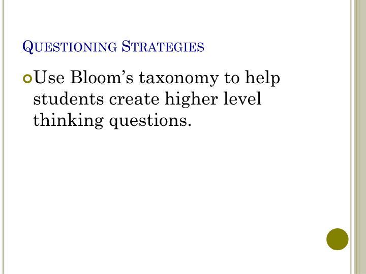 Questioning Strategies