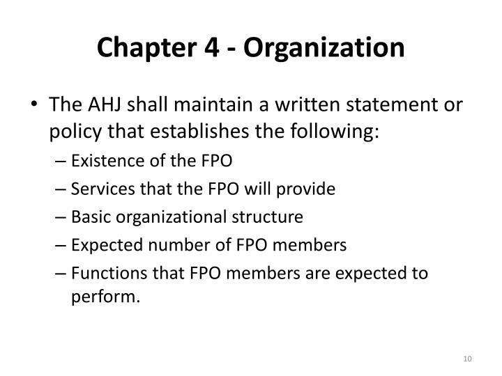 Chapter 4 - Organization