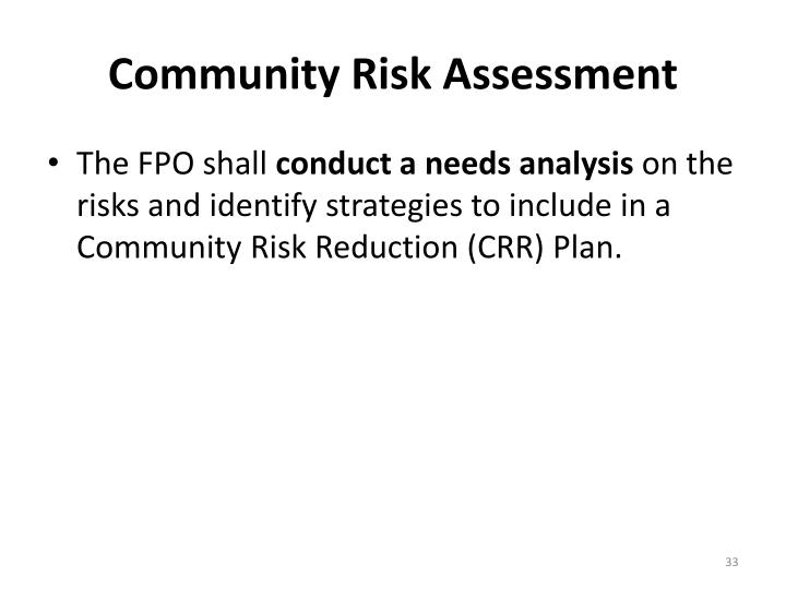 Community Risk Assessment