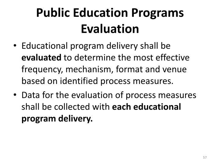 Public Education Programs