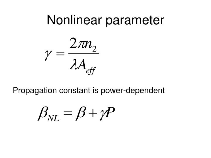 Nonlinear parameter