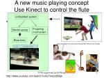 a new music playing concept use kinect to control the flute