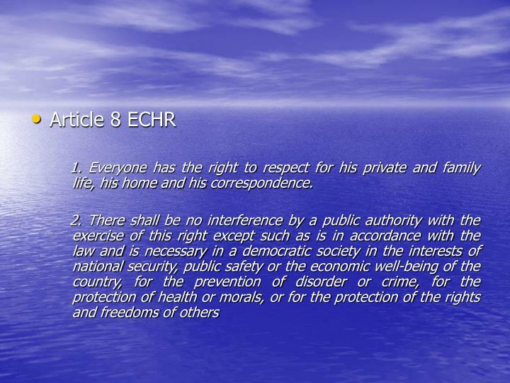 Article 8 ECHR