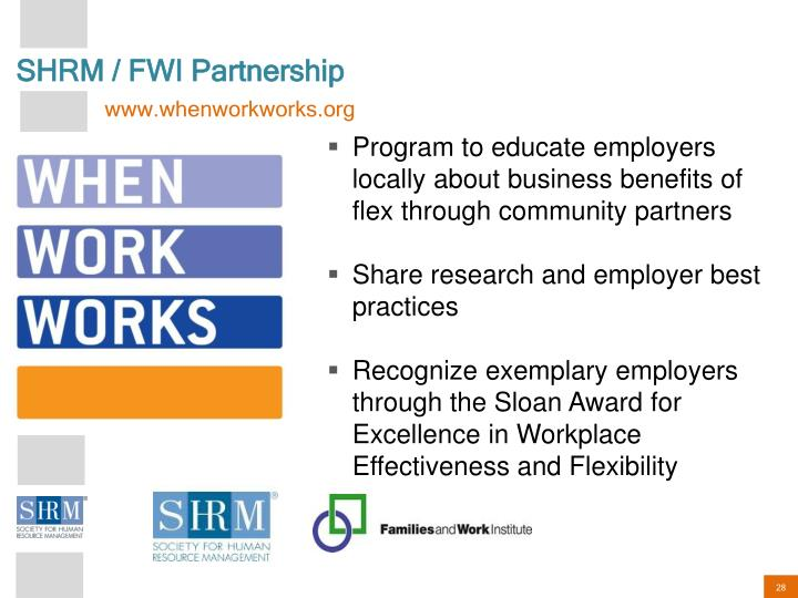 SHRM / FWI Partnership