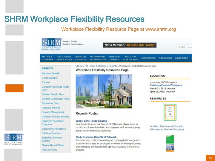 SHRM Workplace Flexibility Resources
