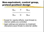 non equivalent control group pretest posttest design