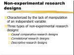 non experimental research designs