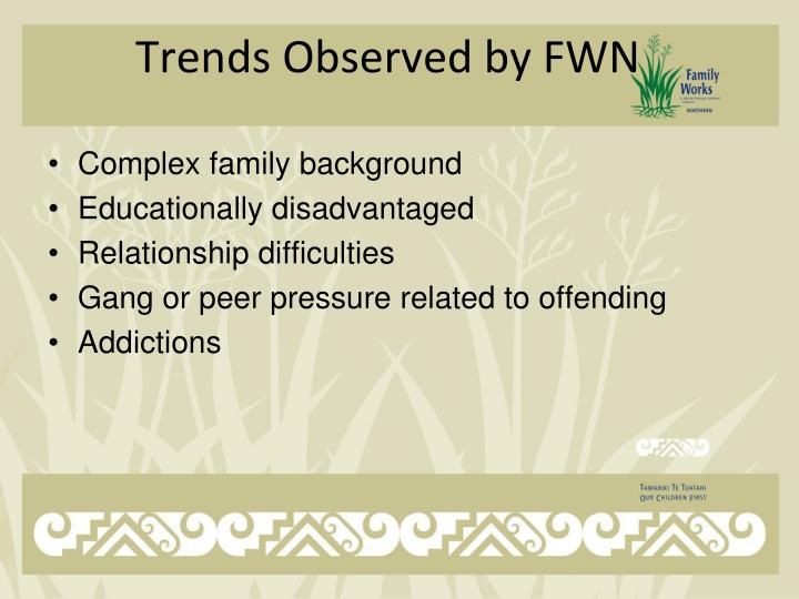 Trends Observed by FWN