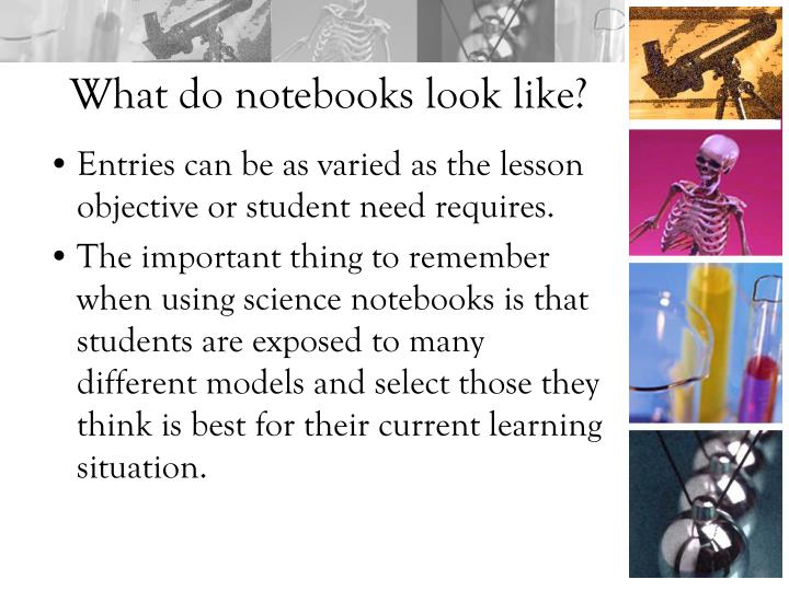 What do notebooks look like?