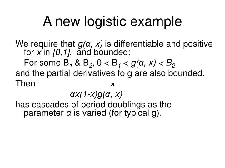 A new logistic example