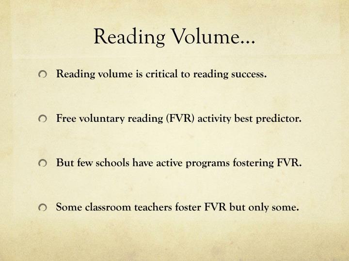 Reading Volume…
