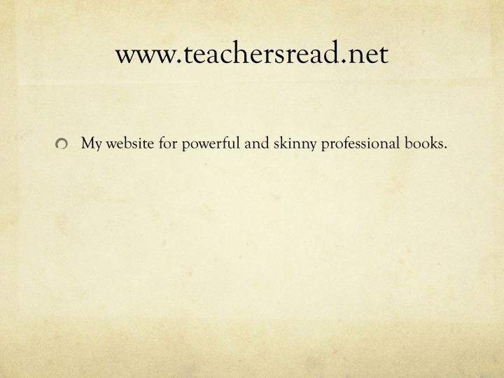 www.teachersread.net
